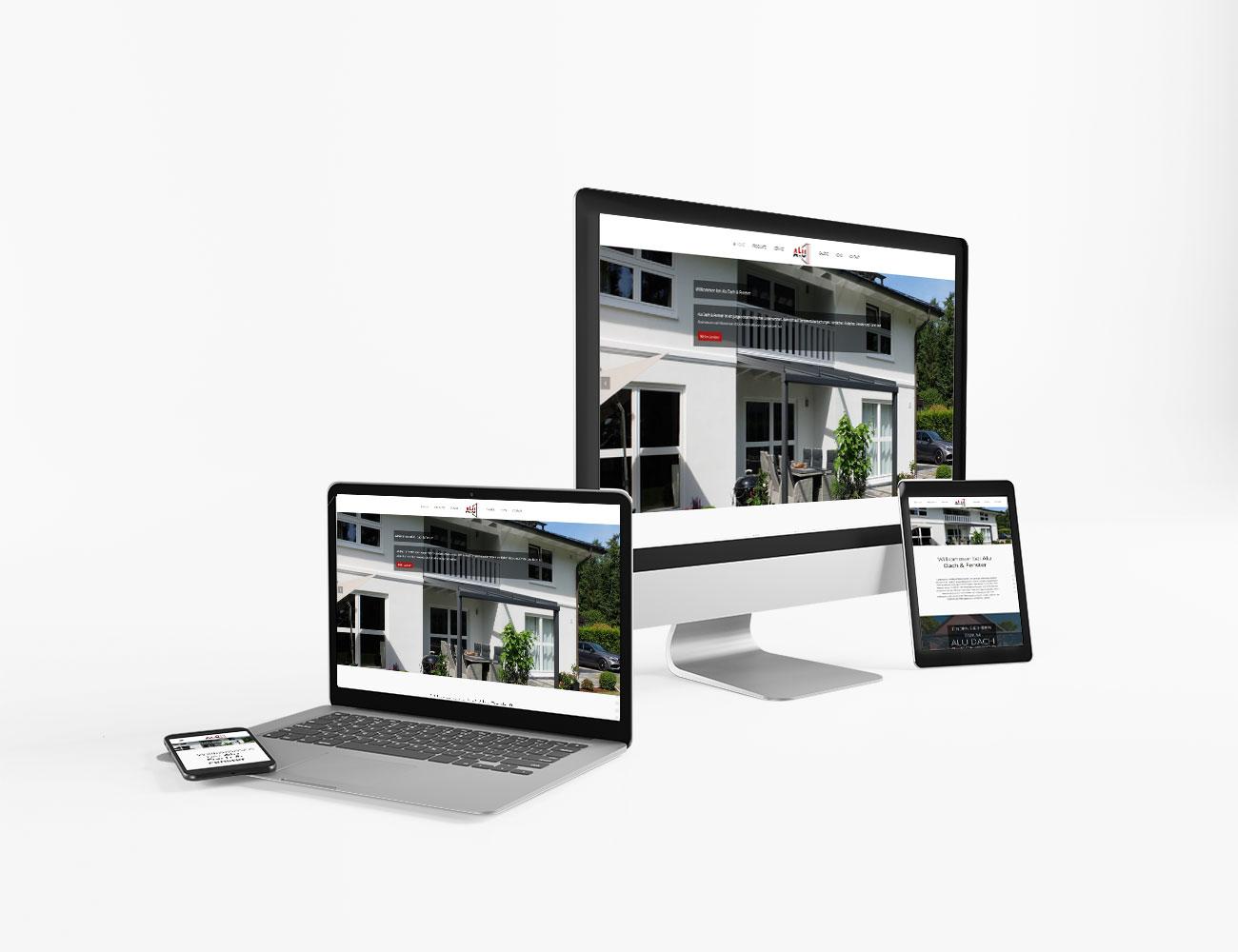 Die Webseite von Alu Dach & Fenster ist online