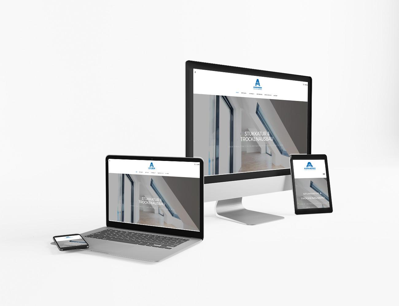 Die Webseite von Augeneder Stukkatur & Trockenausbau ist online