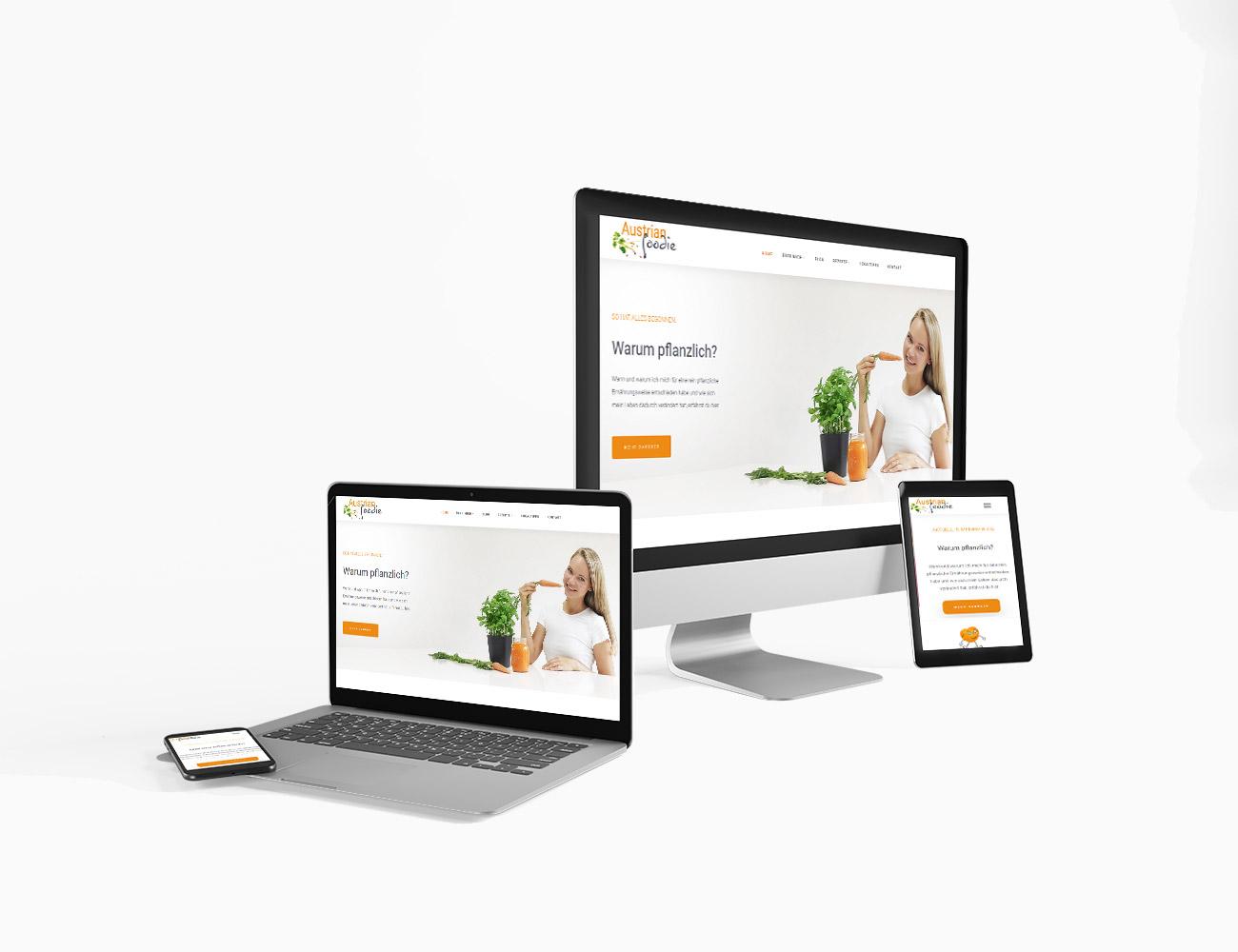 Die Webseite von Austrian foodie ist online | webundwerbung.at