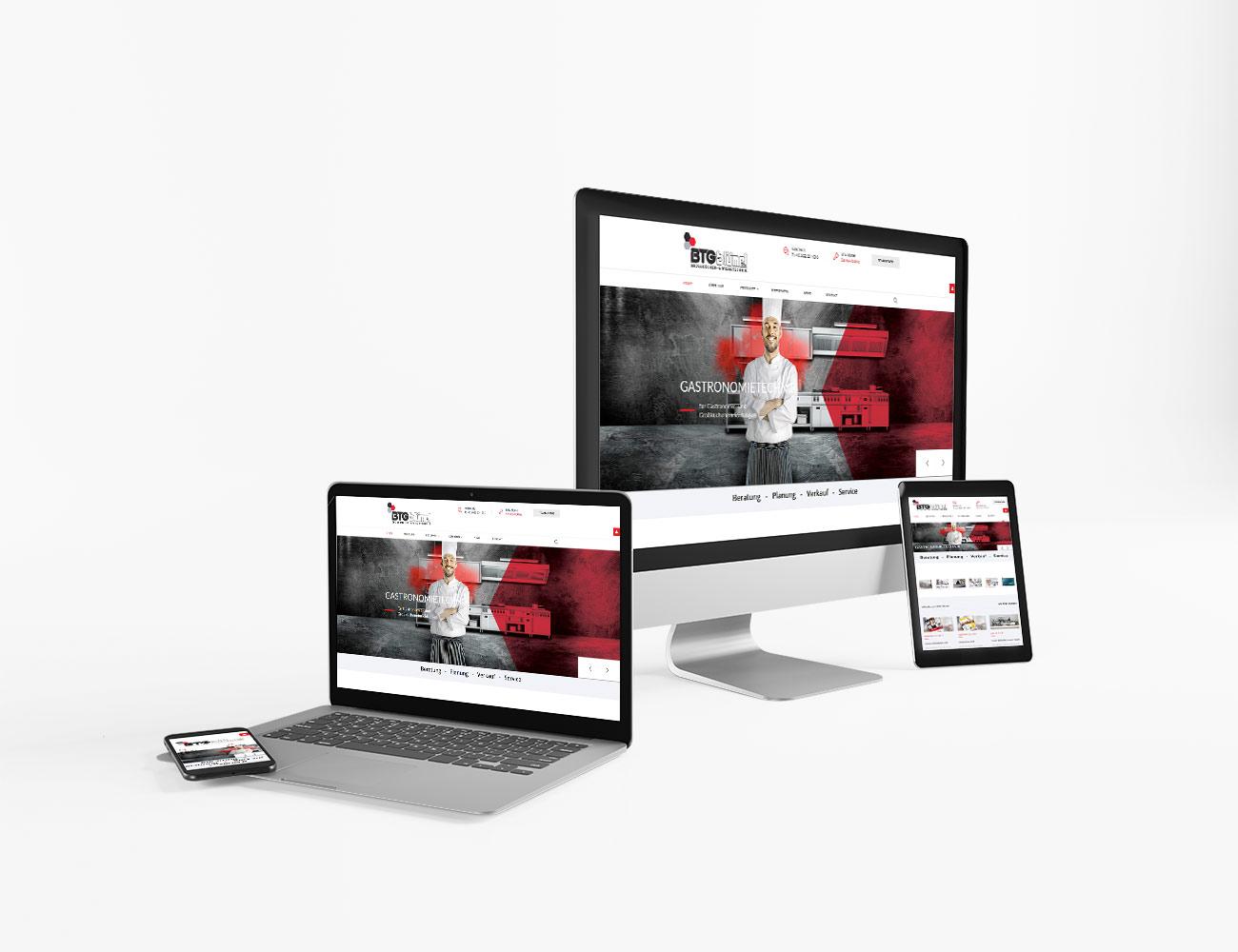 Die Webseite von BTG Blümel ist online | webundwerbung.at