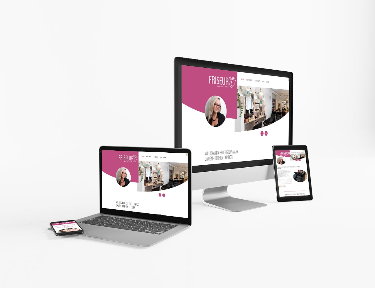 Die Webseite von Friseur Maxy ist online  | webundwerbung.at